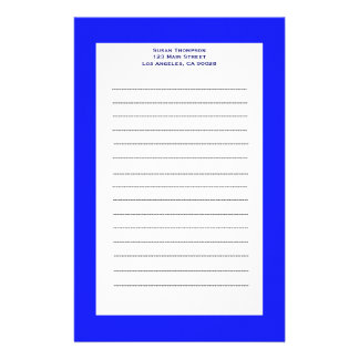 simple blue stationery