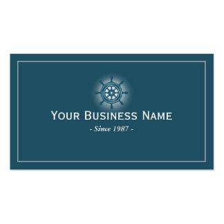 Simple Blue Steeling Wheel Business Card
