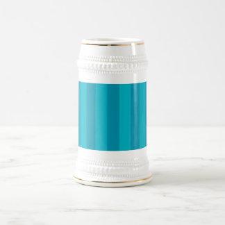 Simple Blue Stripes Beer Stein