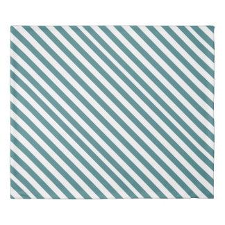 Simple Blue Stripes Duvet Cover