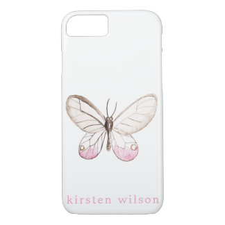 Simple Blush Butterfly Personalized Phone Case