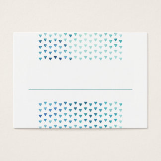 SIMPLE BOHO PLACE CARDS modern pattern blue