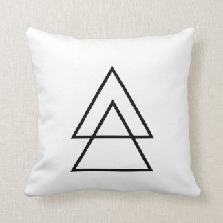 Simple BohoTriangle Pillow. Throw Pillow