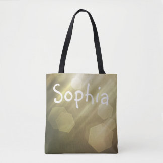 Simple Bokeh Custom Name Bag