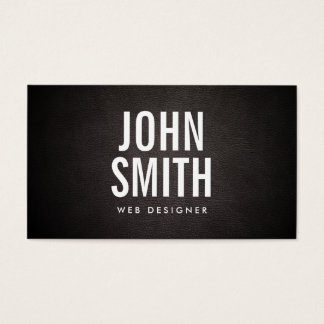 Simple Bold Text Web Design Business Card