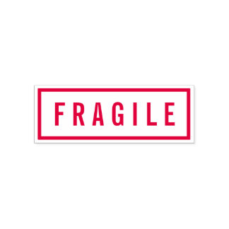Simple Border Bold Red Fragile Self-inking Stamp