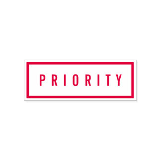Simple Border Bold Red Priority Self-inking Stamp