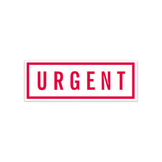 Simple Border Bold Red Urgent Self-inking Stamp