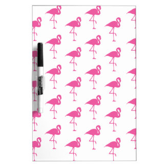 Simple Bright Pink Flamingo Pattern Dry-Erase Board