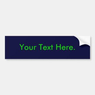 Simple Bumper Sticker Template, Navy Blue 000033 Car Bumper Sticker