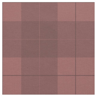 Simple Burgundy Plaid Fabric