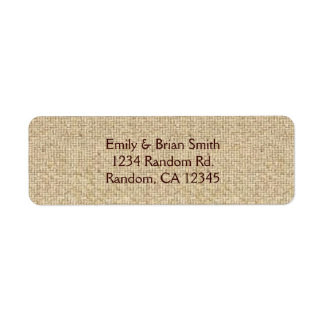 Simple burlap custom return address labels