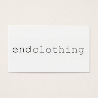 "Simple Businees CArd ""end Clothing"""