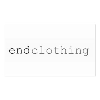"Simple Businees CArd ""end Clothing"" Pack Of Standard Business Cards"