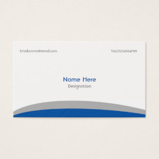 Simple Business Card- Blue & Grey Business Card