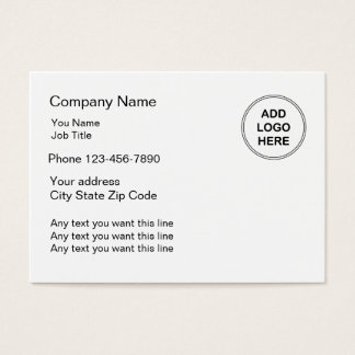 Simple Business Card Large Format