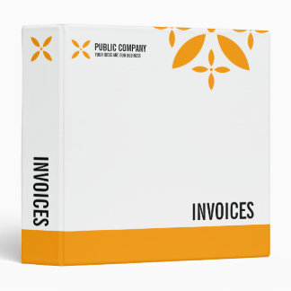 Simple Business Invoices 3 Ring Binder