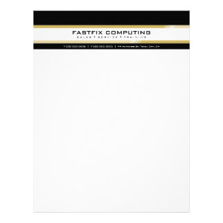 SIMPLE BUSINESS LETTERHEAD :: hi-tech zing 3
