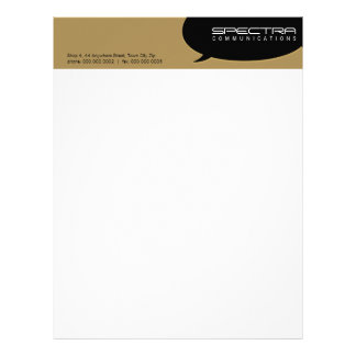 SIMPLE BUSINESS LETTERHEAD :: talk bubble 7