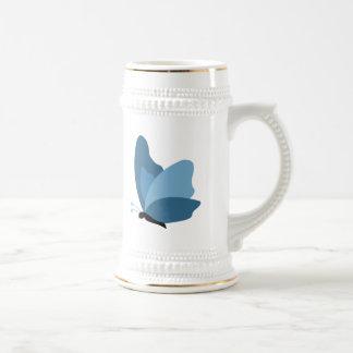 Simple Butterfly - Blue Beer Stein