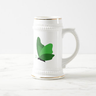 Simple Butterfly - Green Beer Stein