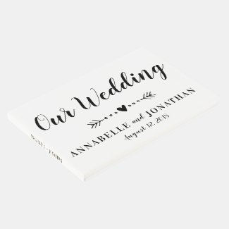 Simple Calligraphy Wedding Guest Book