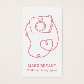 Simple Camera Doodle, Fun Wedding Photographer Business Card