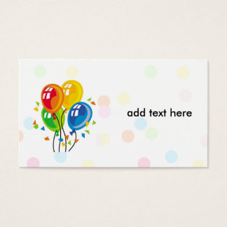 simple card with balloons