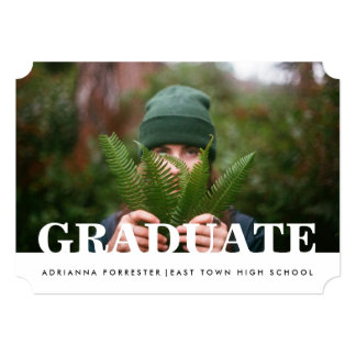 Simple Casual Graduate Photo Card