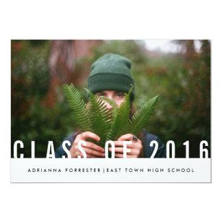 Simple Casual Graduate Photo Class Of 2016 Card