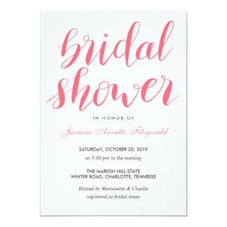 Simple Casual Handwritten Bridal Shower Card