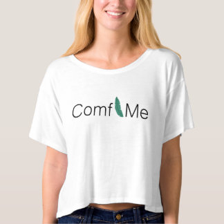 Simple casual T-shirt with palm leave and text