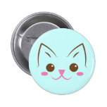 Simple cat face so cute! 2 inch round button