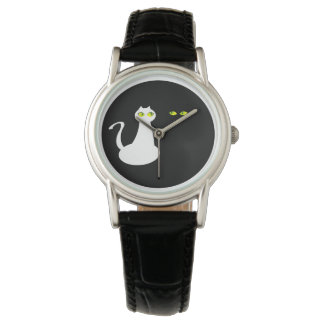 Simple Cats Love Attractive Black White Contrast Wristwatch