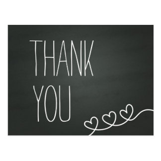 Simple Chalkboard Thank You Post Card