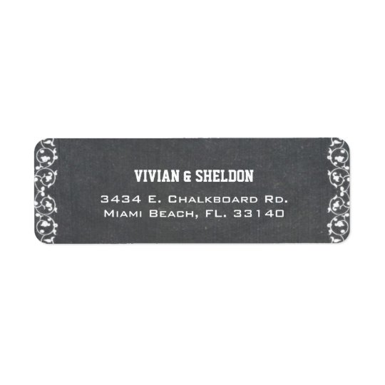 Simple Chalkboard Wedding Return Address Labels
