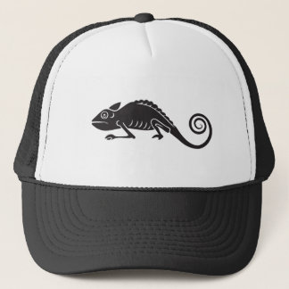 simple chameleon trucker hat