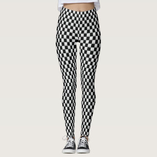 Simple checkered flag leggings small squares
