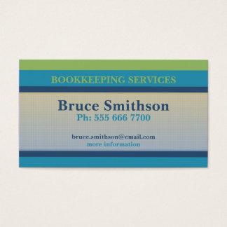 Simple Checks & Stripes Budget Business Card