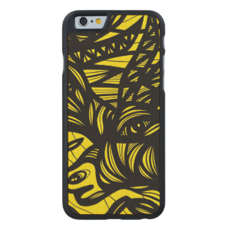 Simple Cheerful Majestic Fabulous Carved® Maple iPhone 6 Case
