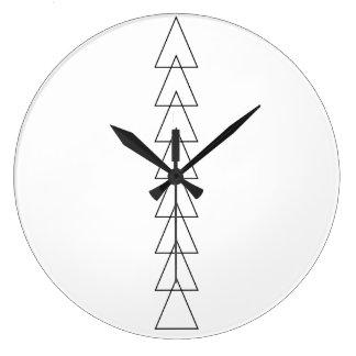 Simple chevron triangles clock