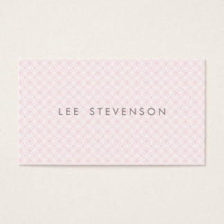 Simple Chic Pink Skincare and Makeup Pattern Business Card