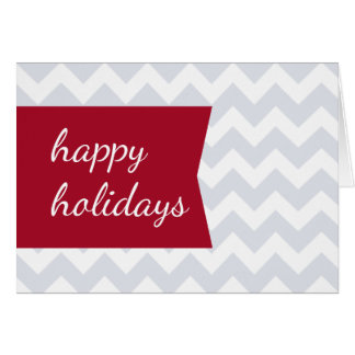 Simple Chic Red Tag Chevron Folded Holiday Greeting Card