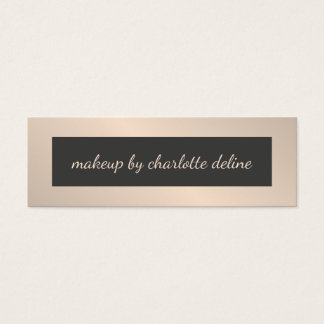 Simple Chic Stylish Makeup Artist Mini Business Card