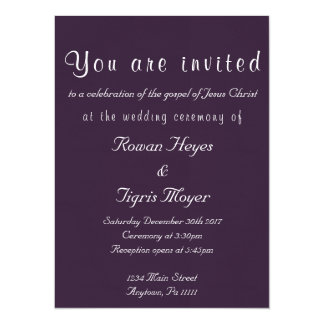 Simple Christian Wedding Invitation