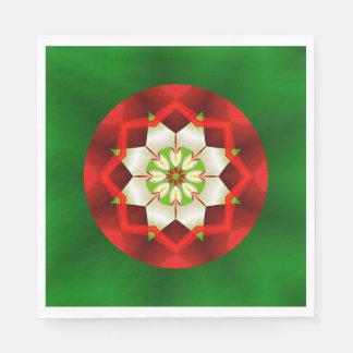 Simple Christmas Kaleidoscope Fractal Disposable Napkin