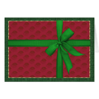 Simple Christmas Package Card