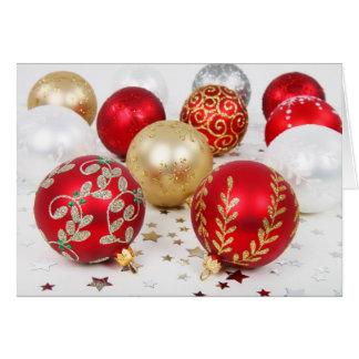 SImple Christmas, Vintage Ornaments Card