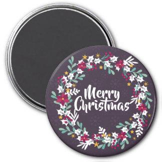 Simple Christmas Wreath Purple | Magnet