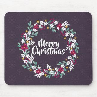 Simple Christmas Wreath Purple | Mousepad
